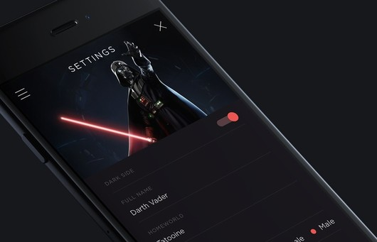 May the Force Be with You: UIDynamics, UIKit and OpenGL for the Star Wars iOS Animations