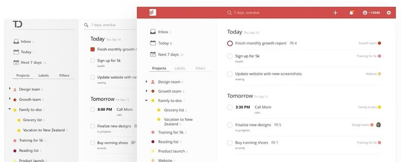 Task management apps todoist due dates and labels