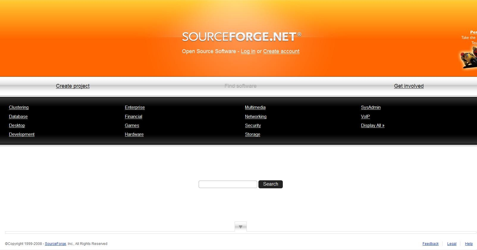 sourceforge source code repository