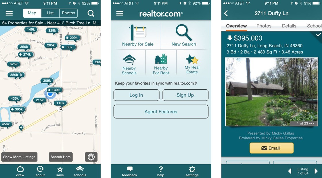 Realtor.com app development