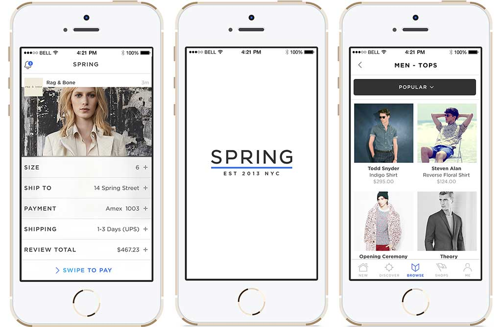 how to build instagram for fashion like Spring?