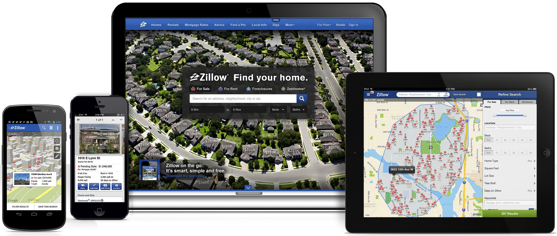 Zillow and Trulia real estate apps development