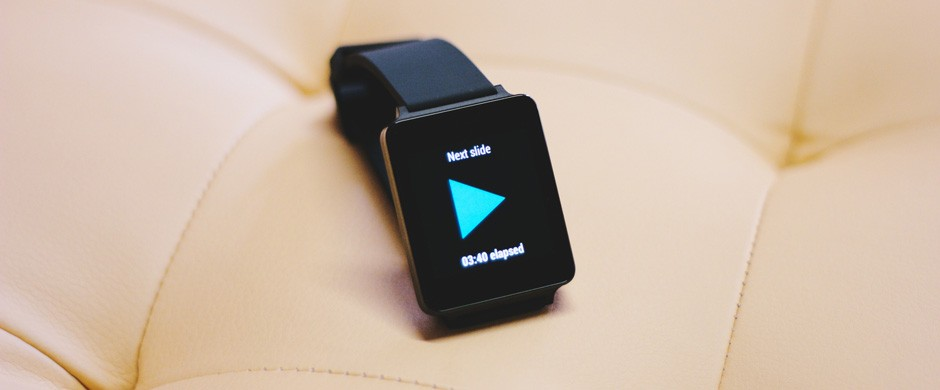 The winner app at the Android wear hackathon