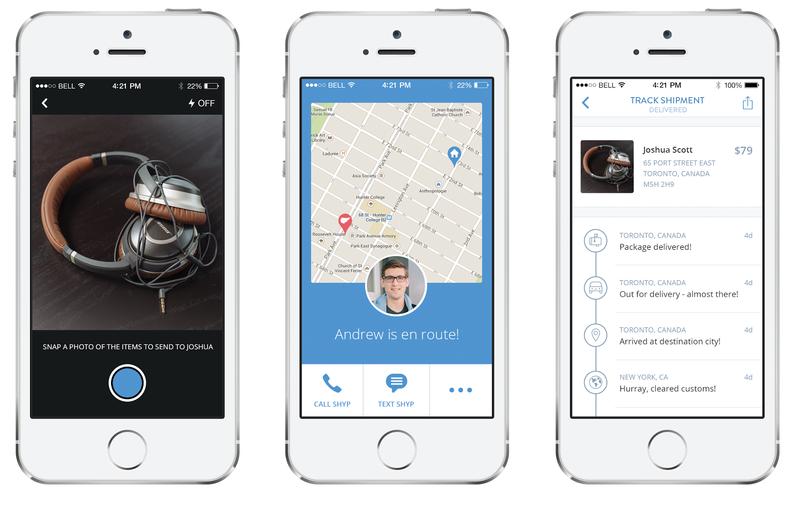 delivery services. ShipBob. Shyp app.