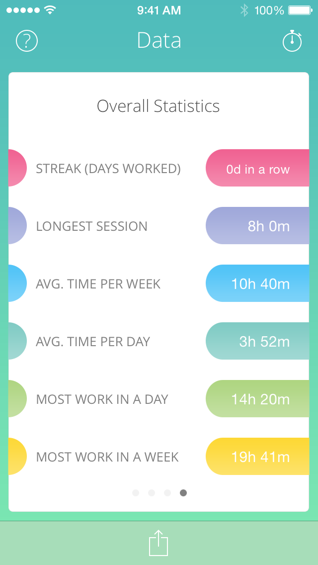 Study Time is our time tracking app for studying