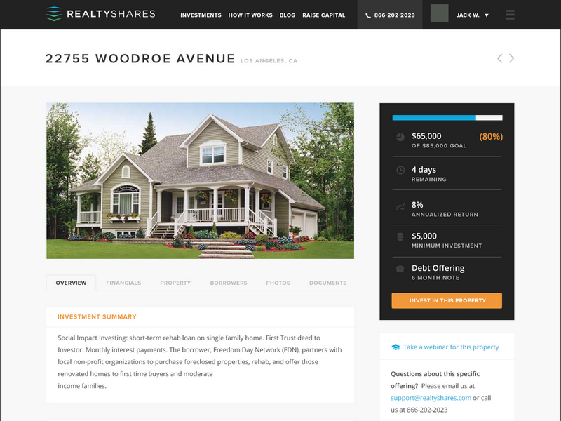 RealtyShares crowdfunding platform for real estate investment. Interview with the co-founder