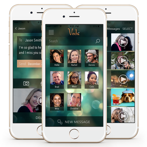 Vochi messaging app