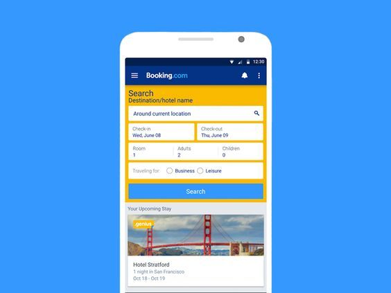 how to build an app like Booking.com