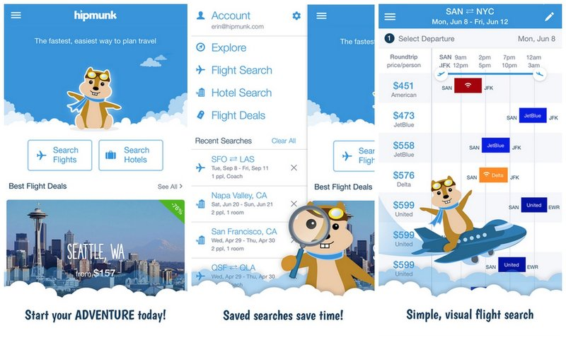 how Hipmunk, Kayak, Expedia and other travel apps work