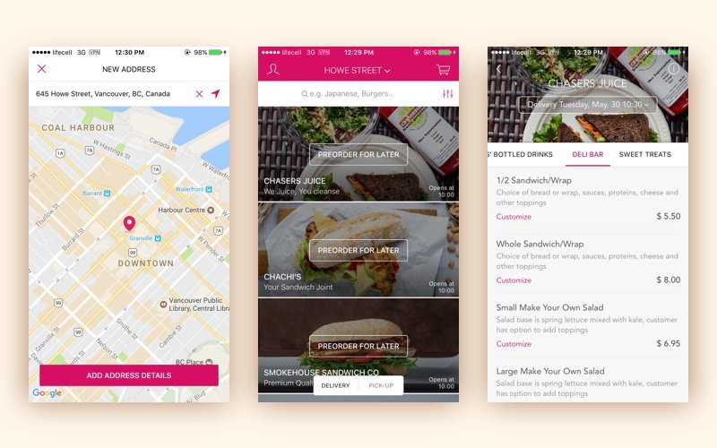 foodora screenshots
