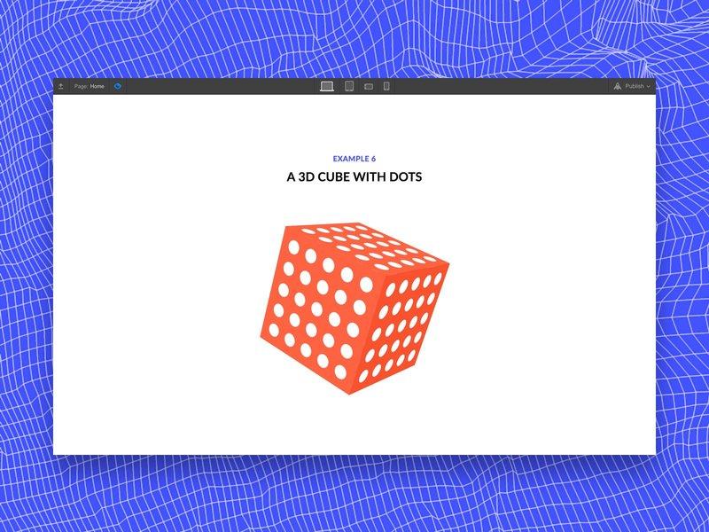 3D cube Webflow