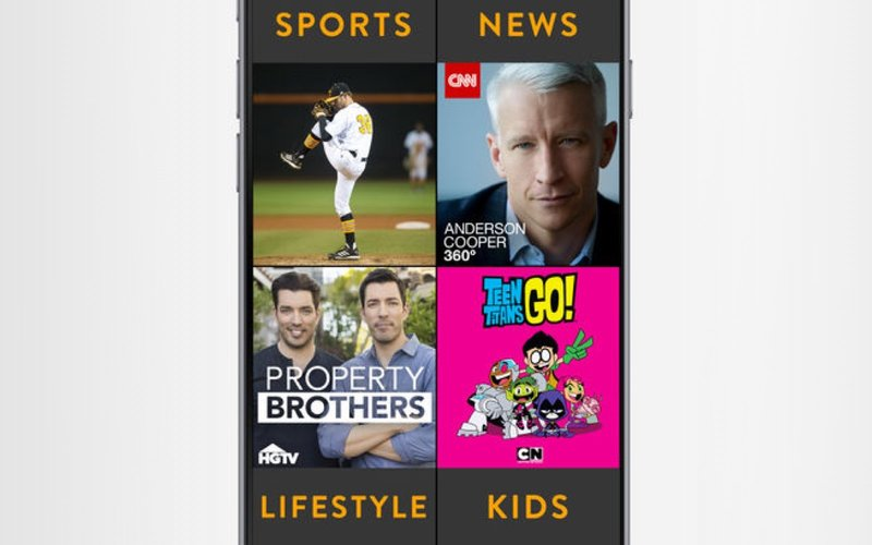 sling TV mobile app ios screenshots