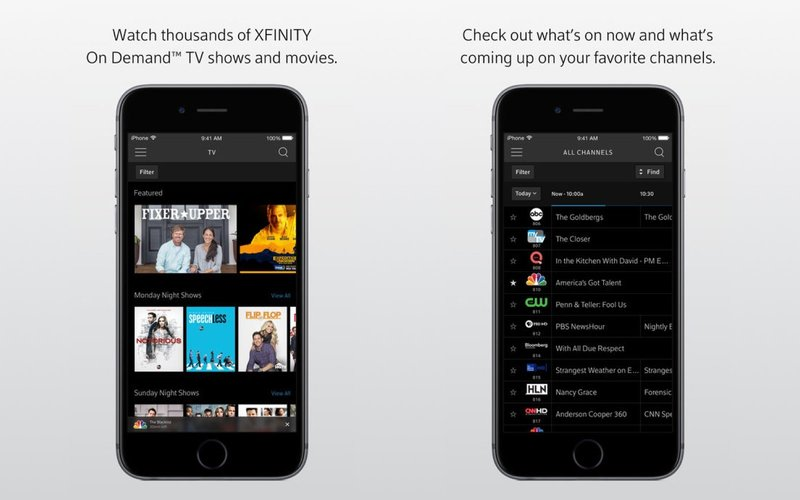 xfinity comcast mobile app ios screenshot