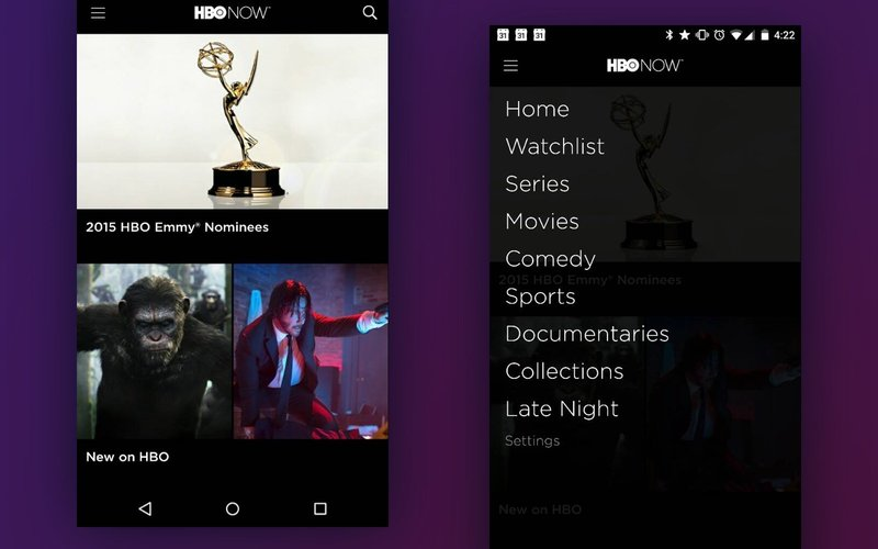 hbo android app screenshots