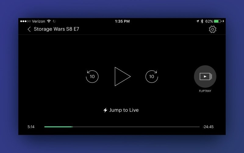 hulu plus mobile app video player