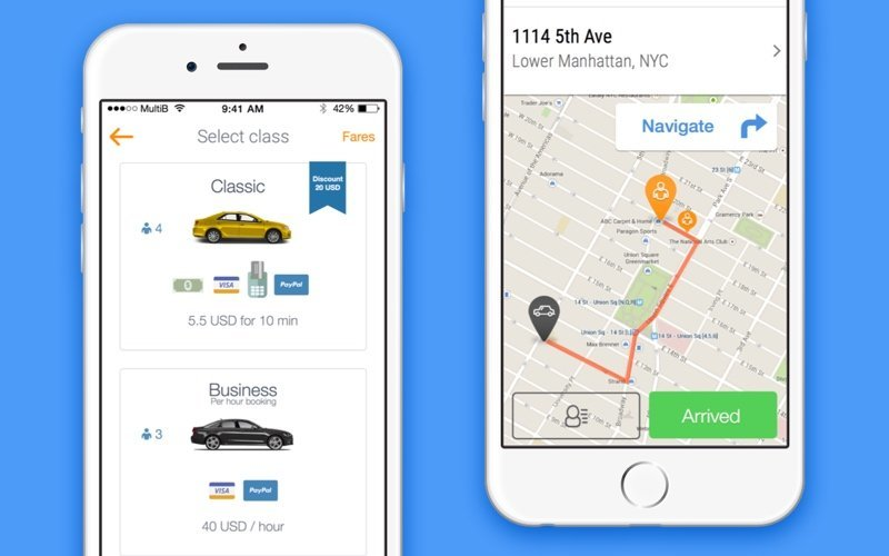 TaxiStartup white label app