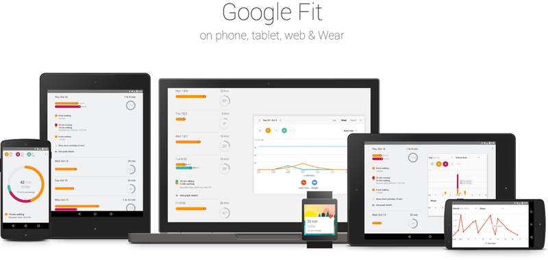 GoogleFit layout on different devices