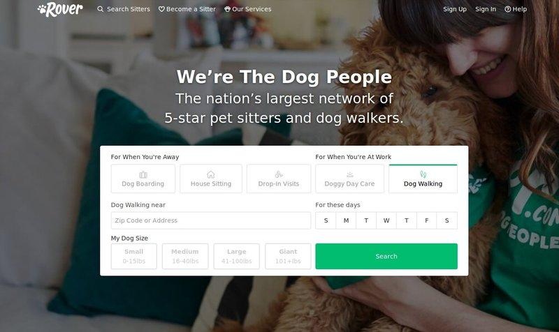 Rover dog walking platform