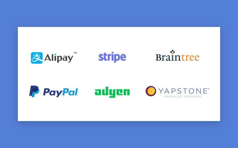 Popular payment gateways