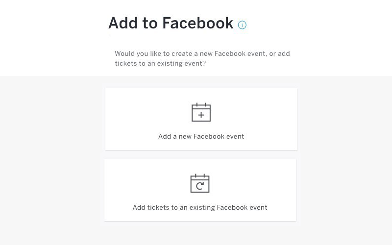 Adding to Facebook Events
