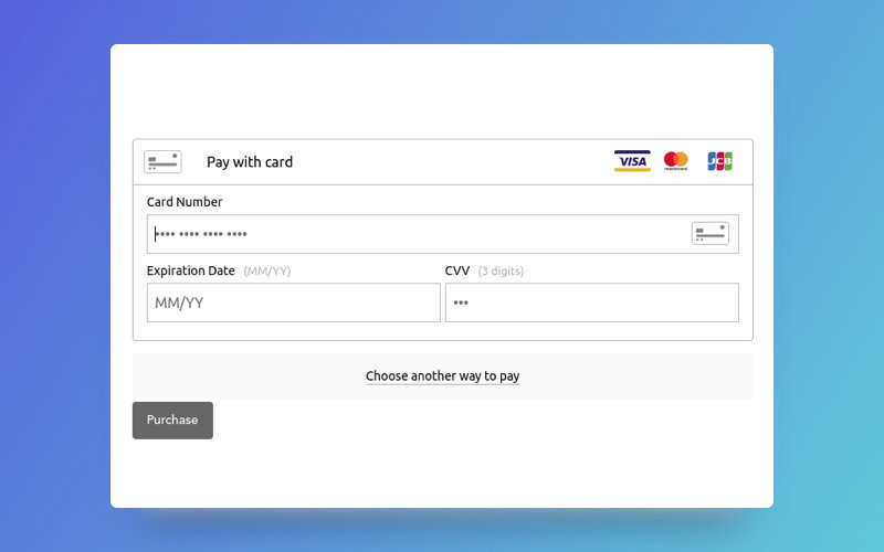 Braintree payment form