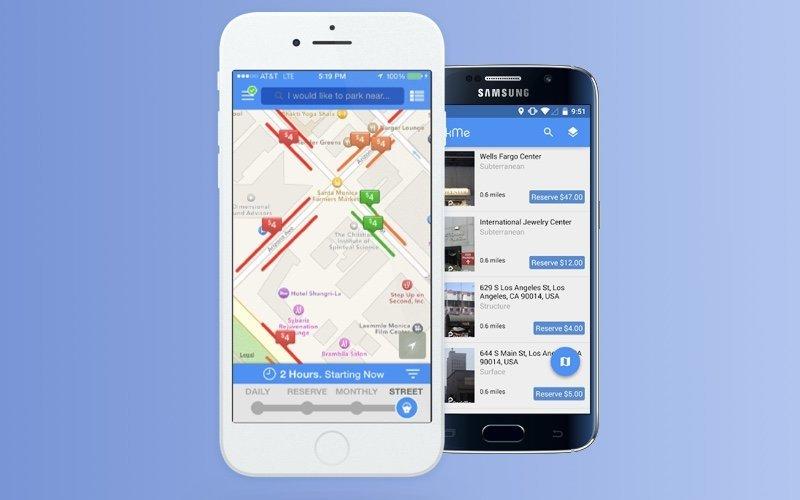 The ParkMe app