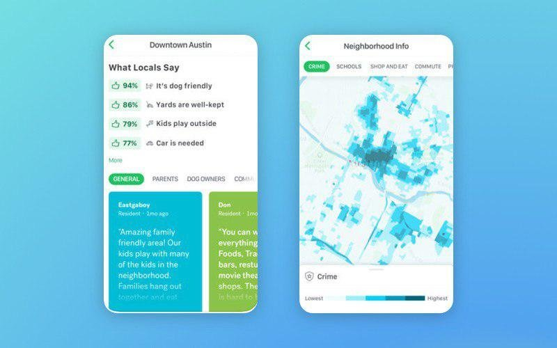Neighborhood information in the Trulia Real Estate app