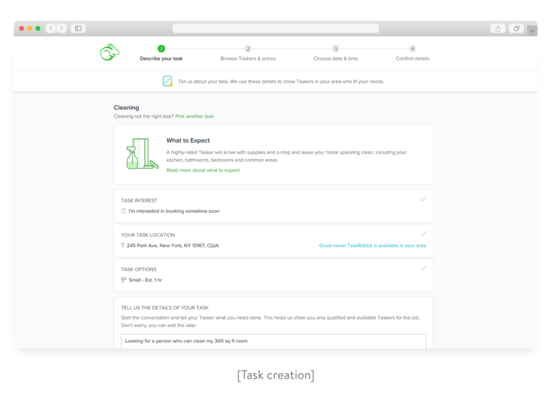 TaskRabbit task creation