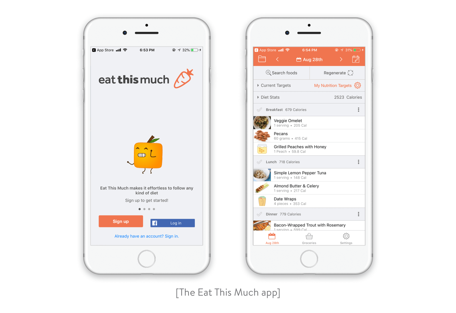 The Eat This Much app