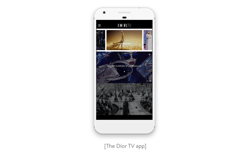 The dior tv app