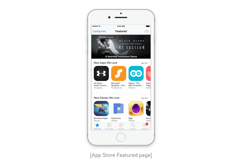 App Store Featured page