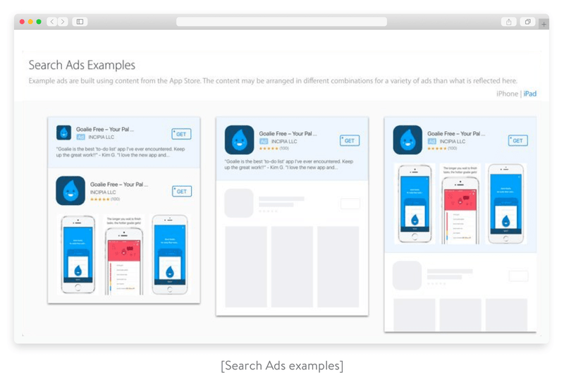 Search Ads examples