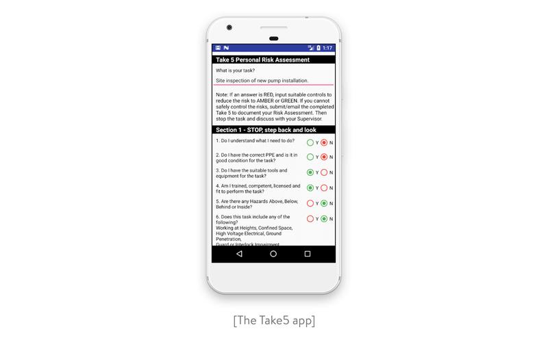 The Take5 app