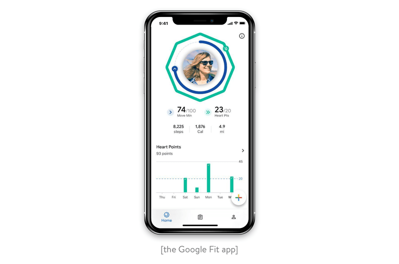The Google Fit app