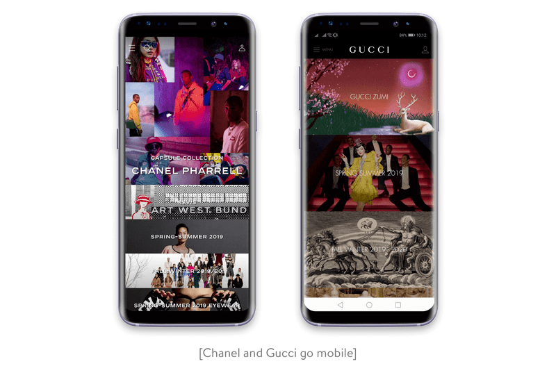 Chanel and Gucci apps