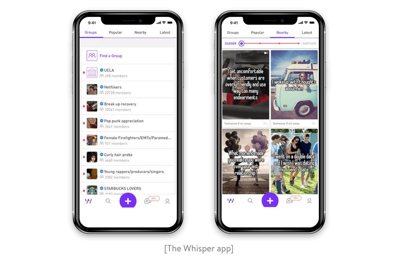 The Whisper app