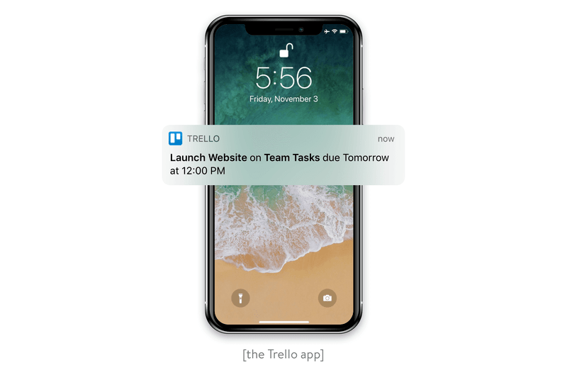 Notification from the Trello app