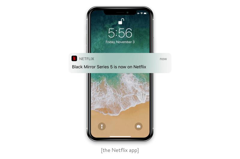 A push notification the Netflix app