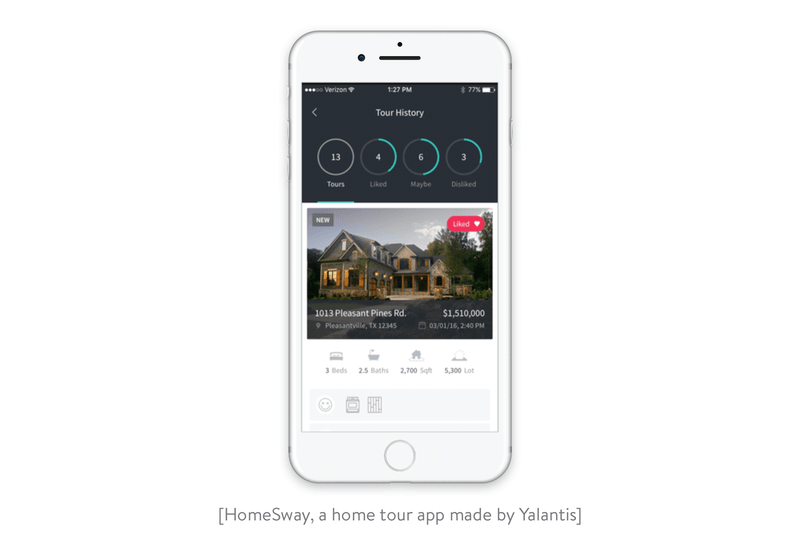 HomeSway home tour app Yalantis