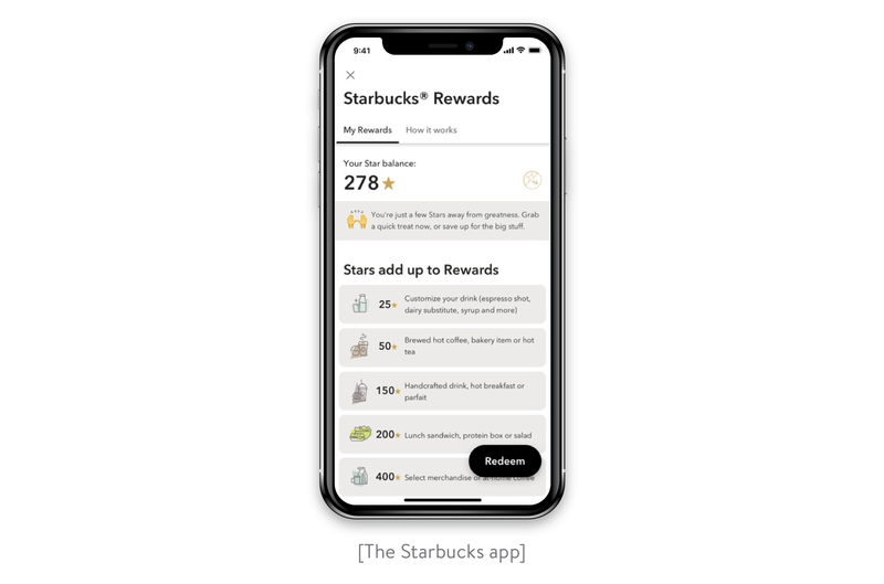 The Starbucks app