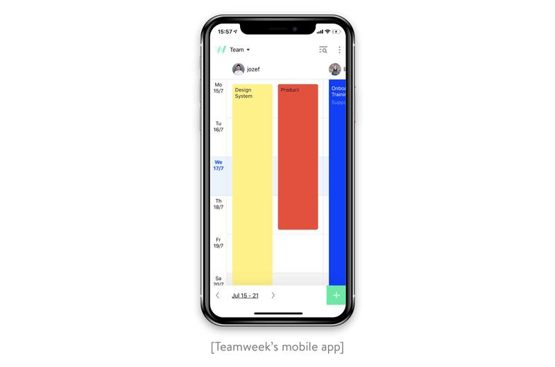 teamweek's mobile app