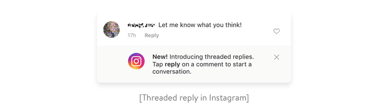 threaded reply in instagram