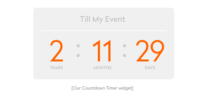 Our Till My Event widget