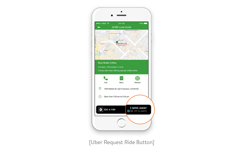uber request ride button
