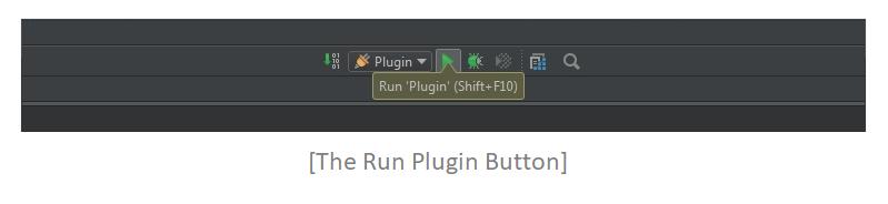 Run plugin button