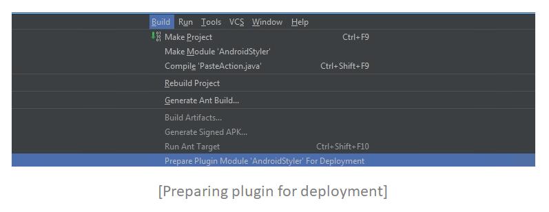 Preparing plugin for deployment