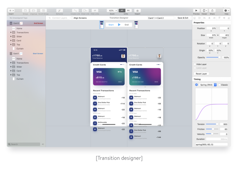 Transition designer