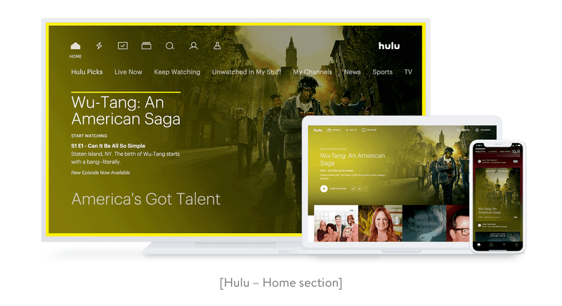 Hulu Home Screen
