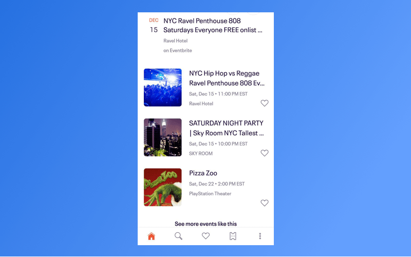 Event feed
