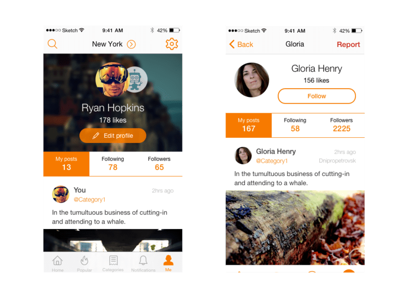 Plaza social app for cities developed by Yalantis